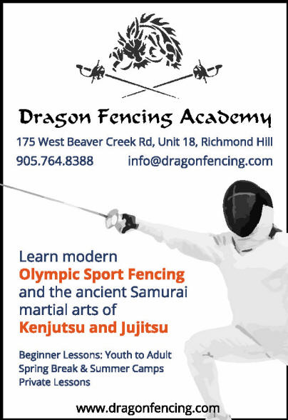 Copyright Dragon Fencing Academy Corp. www.dragonfencing.com fencing foil, epee, sabre, 175 west beaver creek rd, richmond hill, ontario Canada.  Learn how to fence. Youth, Teens, Adults, Kenjutsu